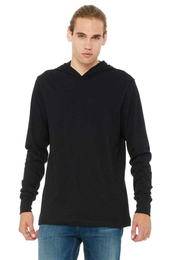 Man in black lightweight hoodie