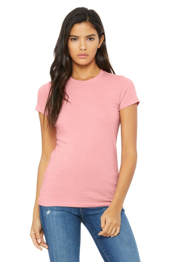 Woman in pink T-shirt