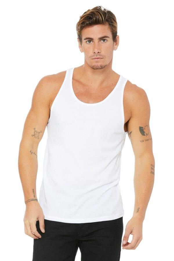 Man in white tank top