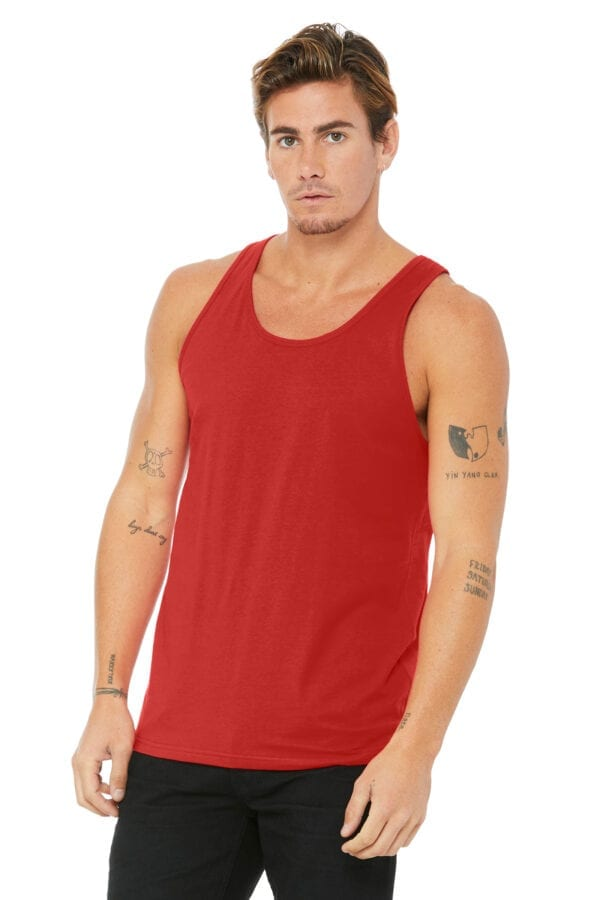 Man in red tank top