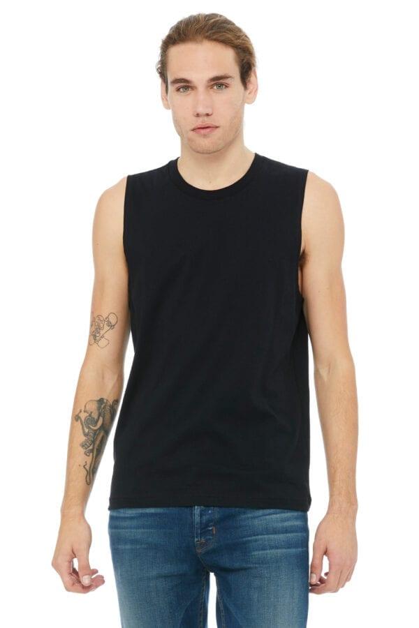 Man in black muscle tank