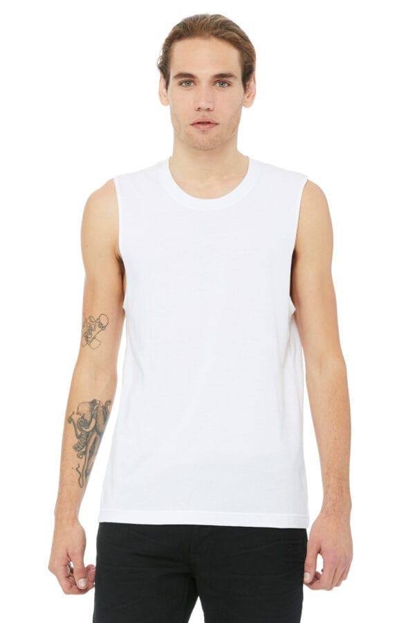 Man in white muscle tank