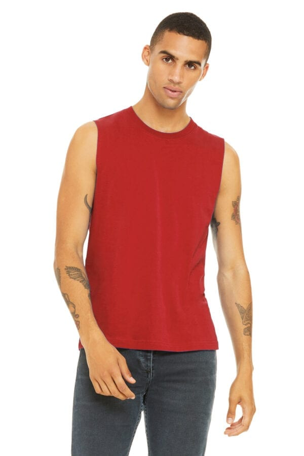 Man in red muscle tank