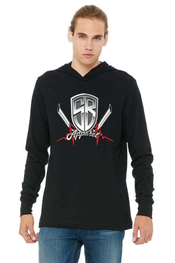 special breed logo on black lightweight hoodie