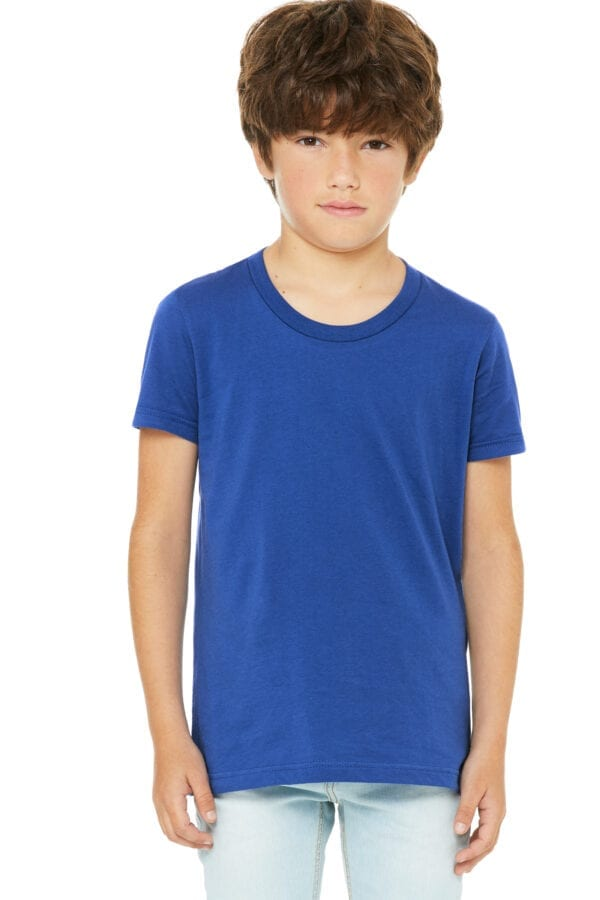 Kid in blue t shirt
