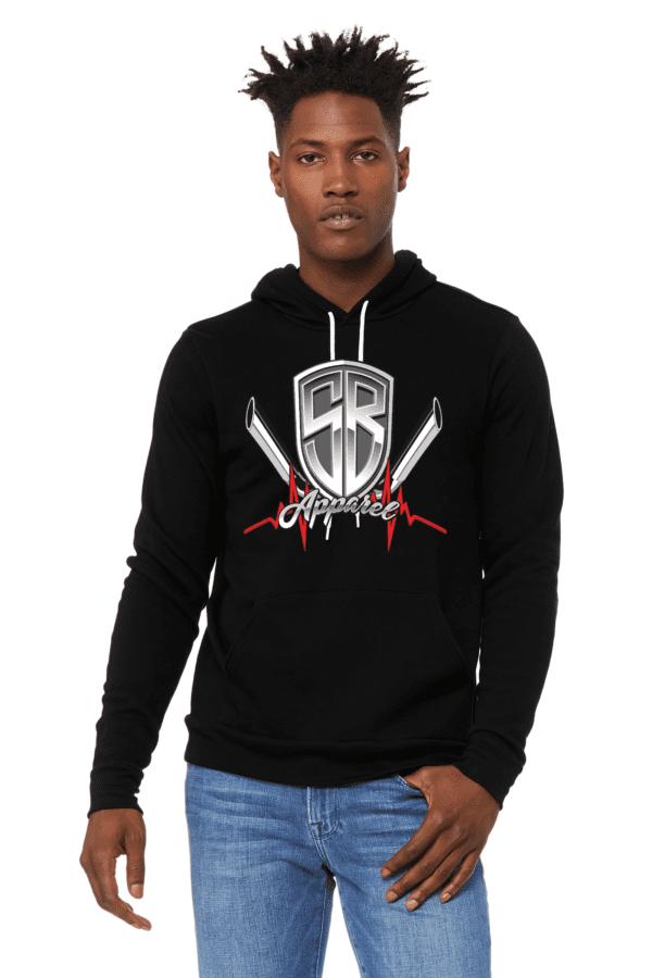 Special Breed logo on black hoodie