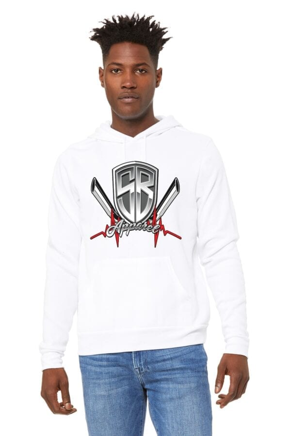 Special Breed logo on white hoodie