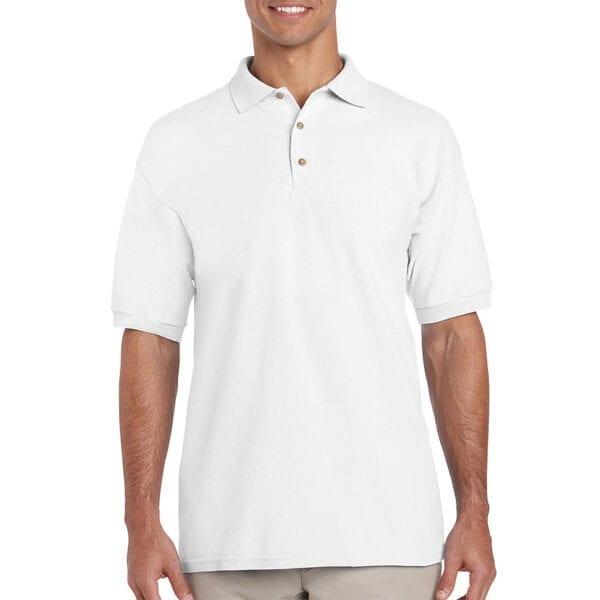 man in white polo