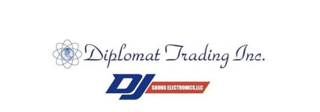 diplomat trading and dj sound electronics logos