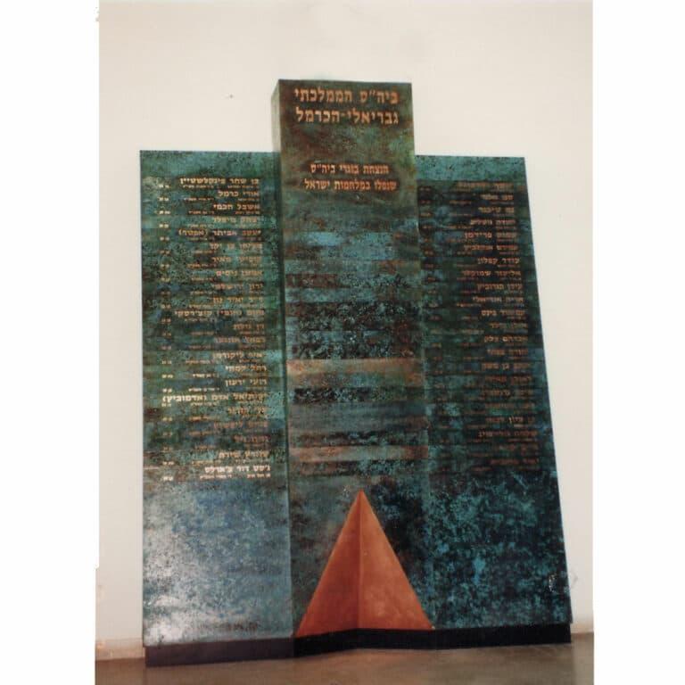 """קיר נופלים, ירוקת נחושת וצריבה, ביה""""ס גבריאלי, 1986"""