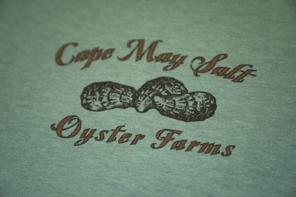 Shuck It! Shirt Cape May Salt Oyster Farms logo on front