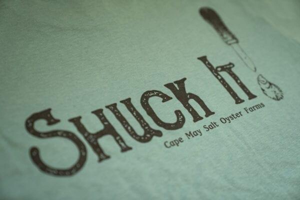 Shuck it shirt back graphic