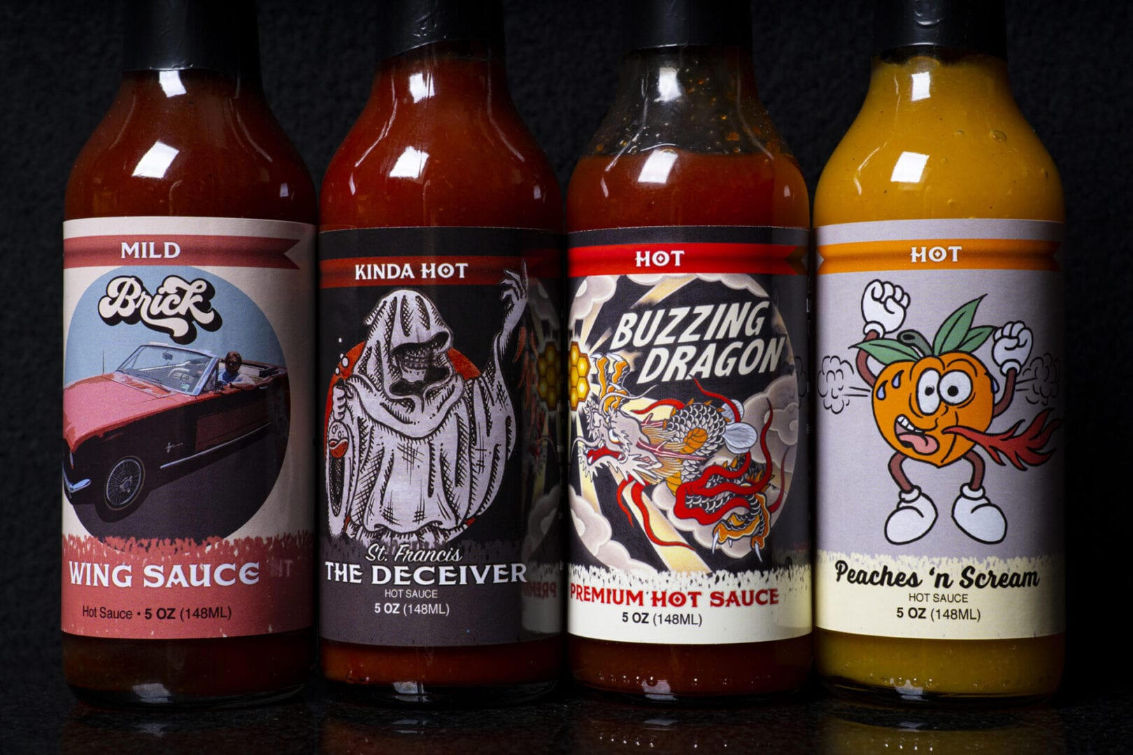 Ledwon's Hot Sauce 4-packl