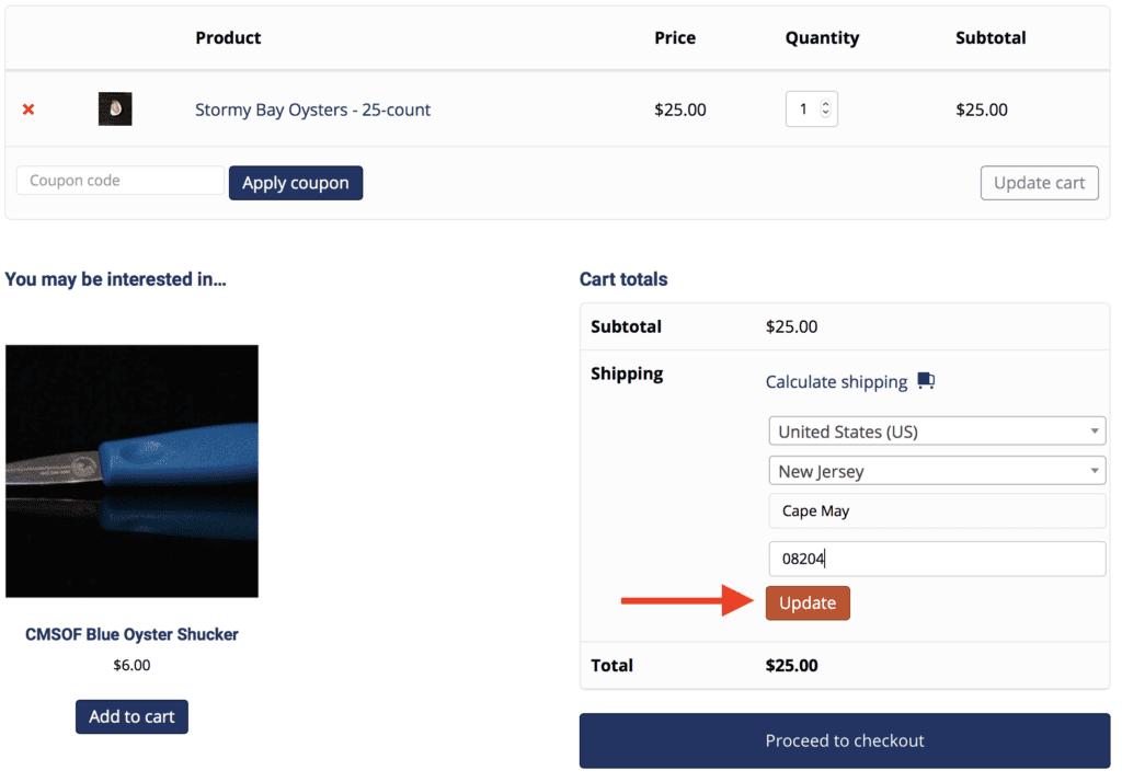Shipping calculate shipping 2