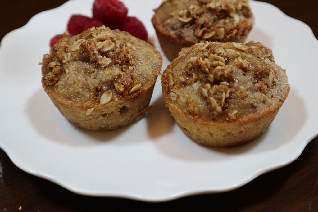 Oatmeal Banana Chocolate Muffins