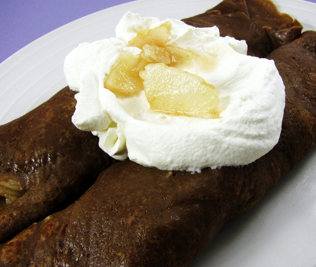 Chocolate Pear French Crepe Recipe