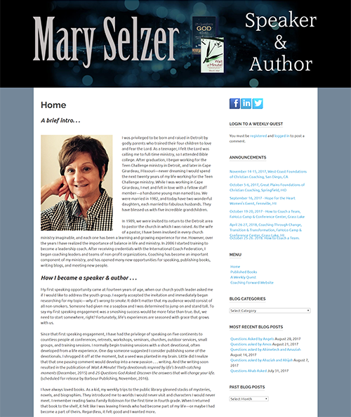 Mary Selzer - Speaker and Author