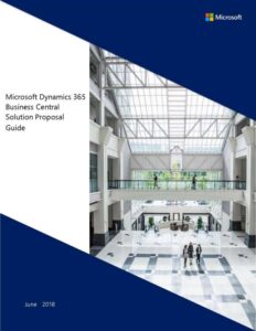 Microsoft Dynamics 365 Business Central solution proposal guide