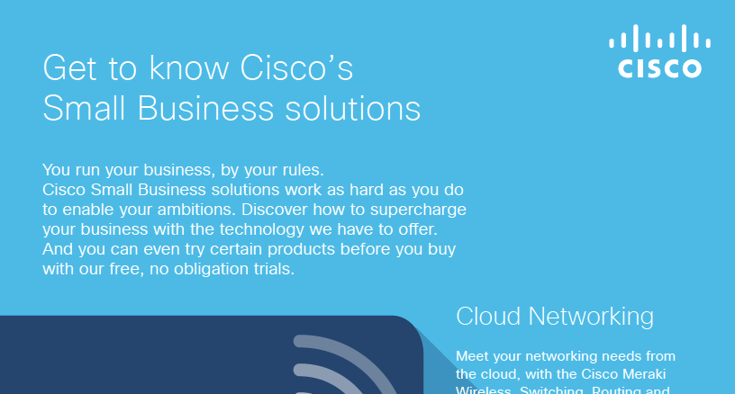 Get to know Cisco's Small Business solutions