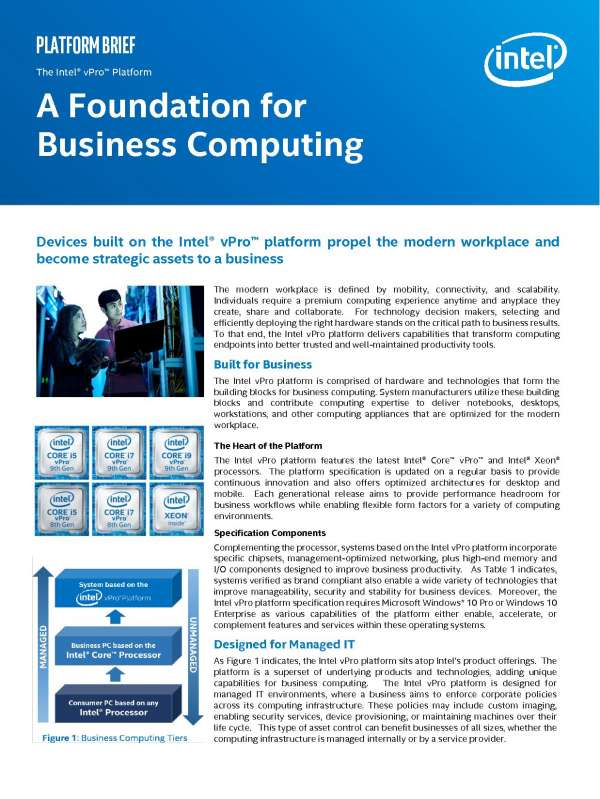 A Foundation for Business Computing