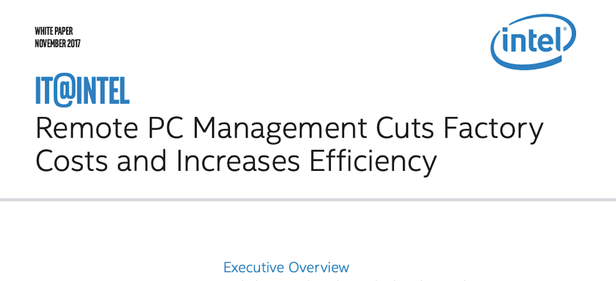 Cut Factory Costs and Increase Efficiency with Remote PC Management