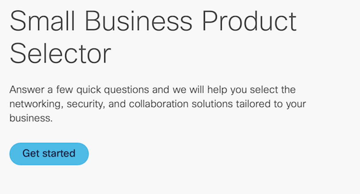 Small Business Product Selector