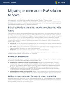 Migrating an open source PaaS solution to Azure