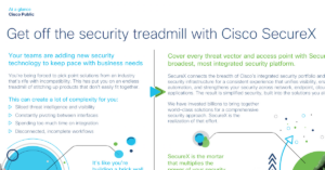 Get off the security treadmill with Cisco SecureX