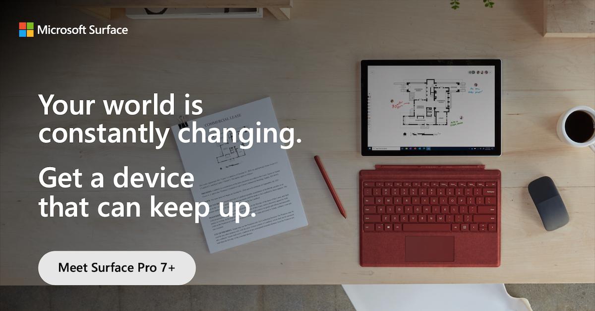Meet Surface Pro 7+