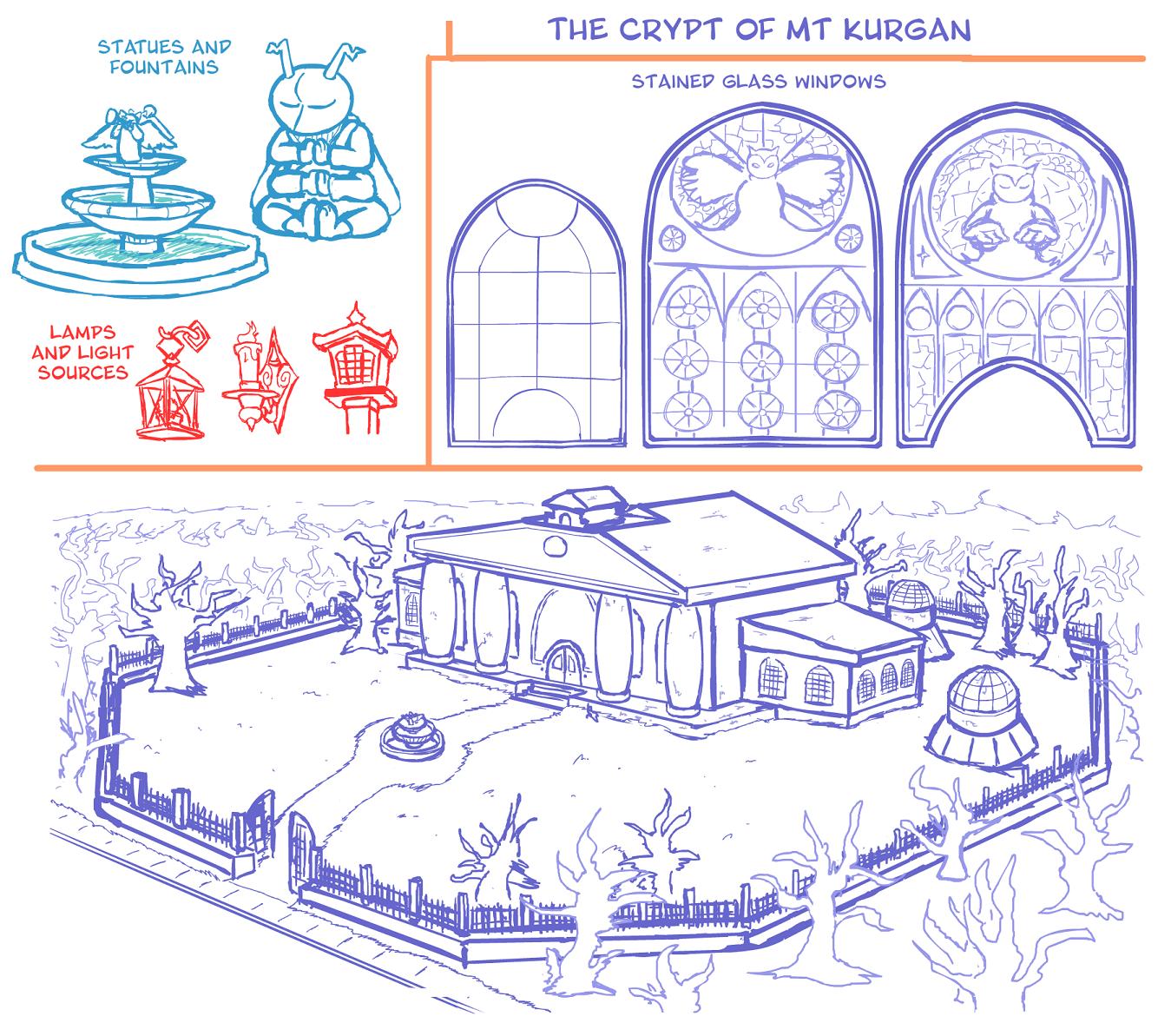 Concept Art: The Crypt at Mt. Kurgan 2/2