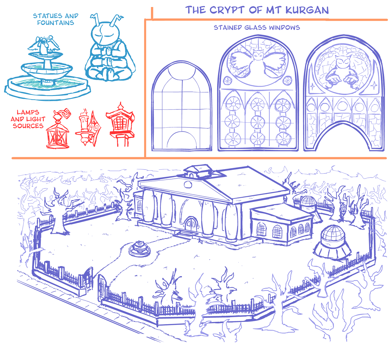 Concept Art: The Crypt at Mt. Kurgan 2/2