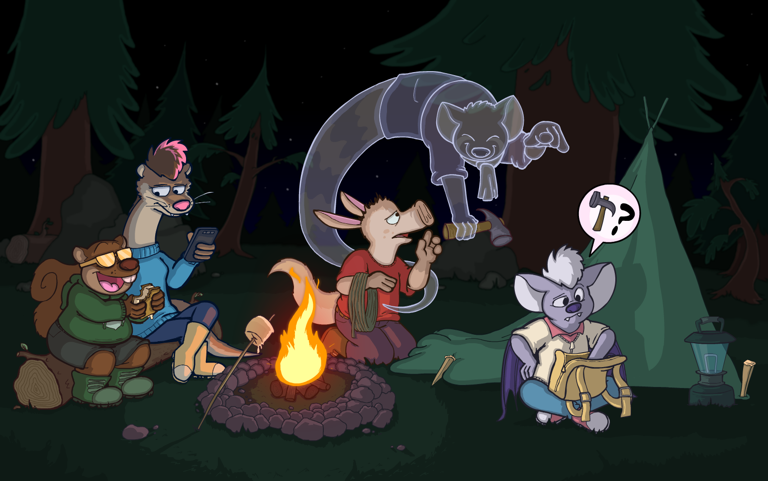 REDUX Chapter 1 Full Intermission Page: Camping