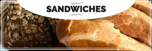 BIN 141 Menu Sandwiches