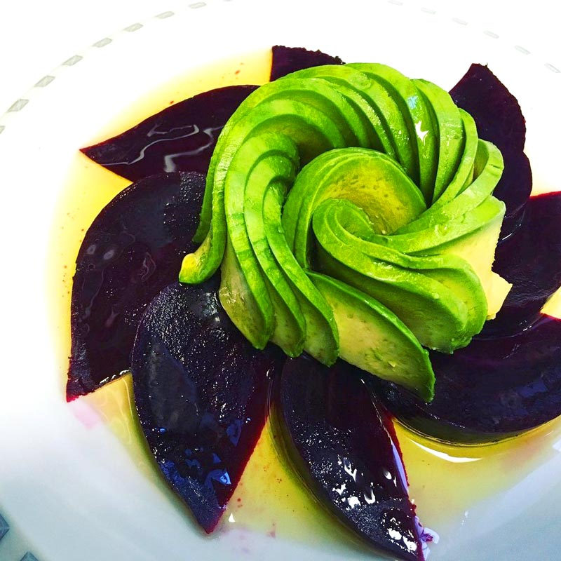 BIN 141 nyc restaurant east village avocado beets salad