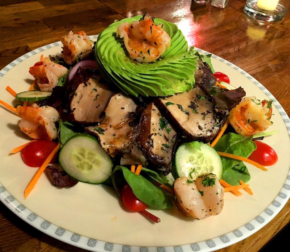 BIN 141 nyc restaurant east village portobello avocado shrimp salad