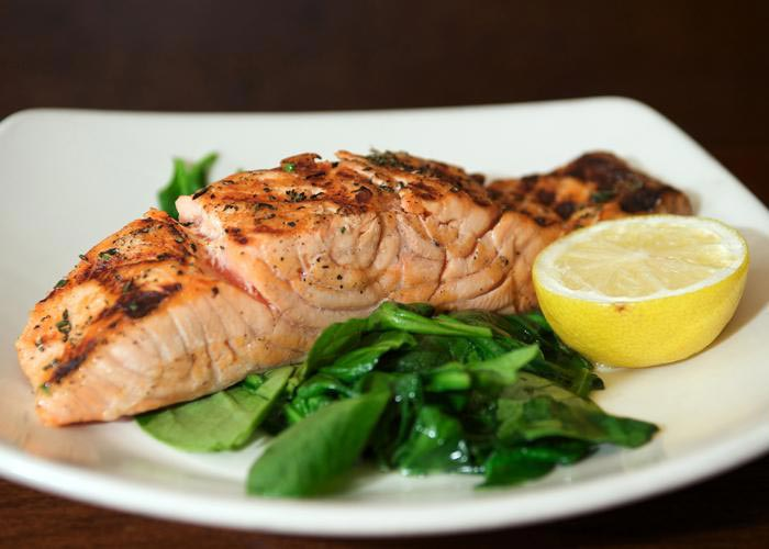 BIN 141 nyc restaurant east village salmon
