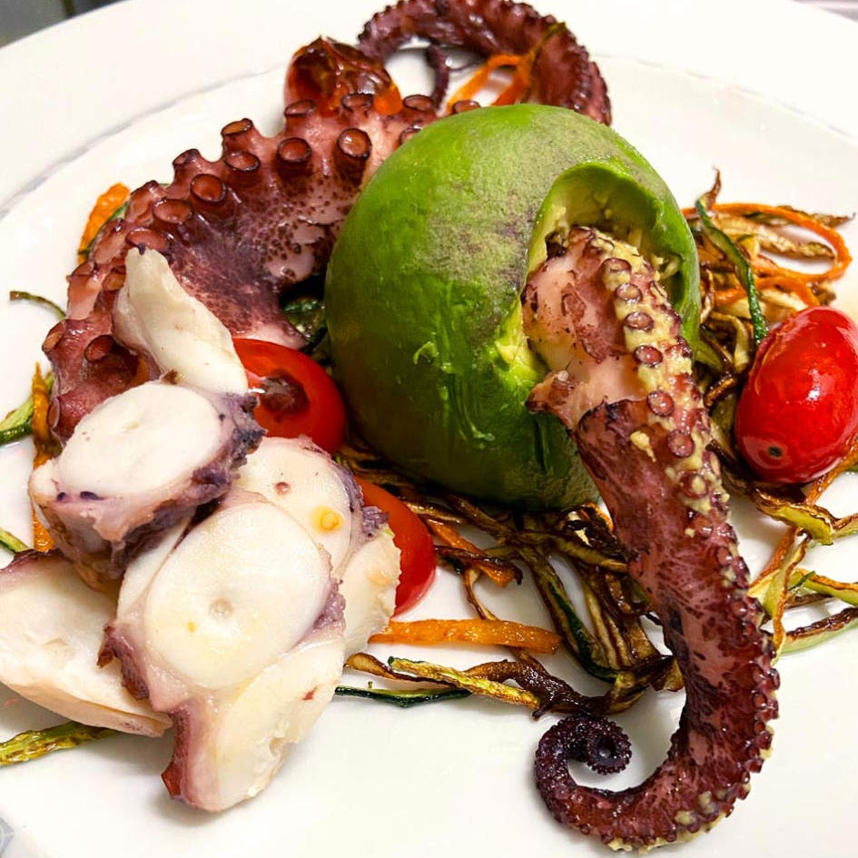 BIN141 nyc restaurant East Village octopus avocado
