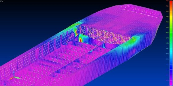 NX Nastran FEA of Ship Structure using FEMAP