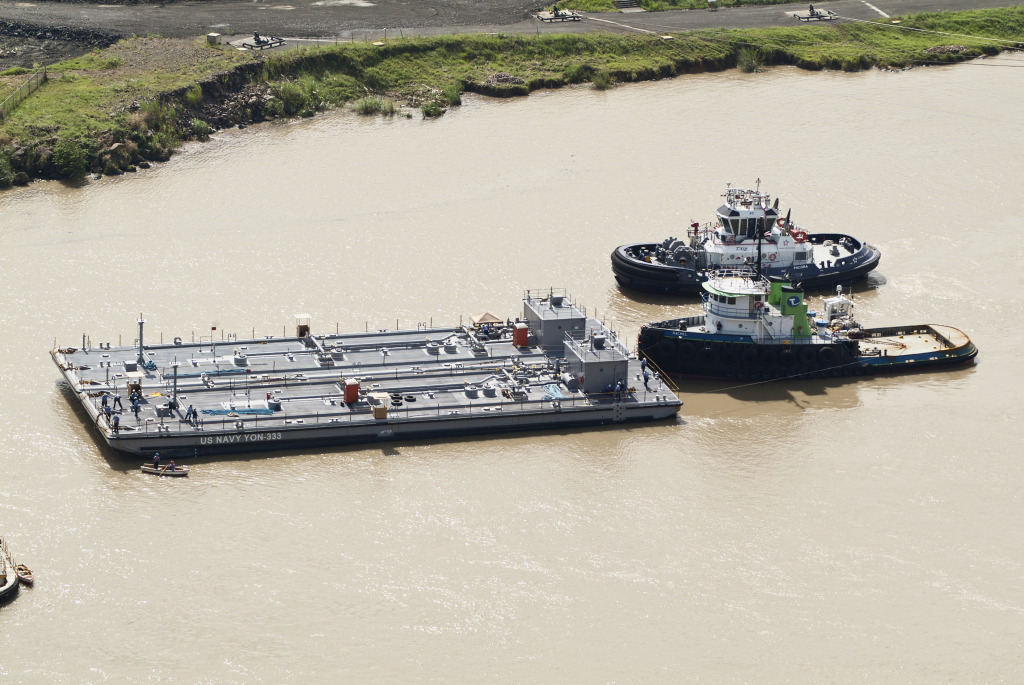 US Navy YON 334 and 335 in Panama Canal