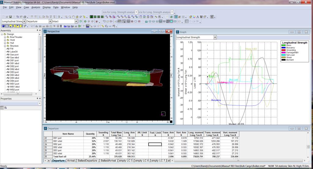 Maxsurf Longitudinal Strength Analysis Easier than GHS