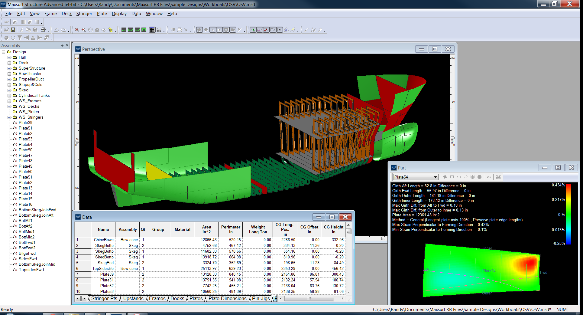 Maxsurf for Design of Workboats Trawlers Offshore Supply Crew Vessels Ships