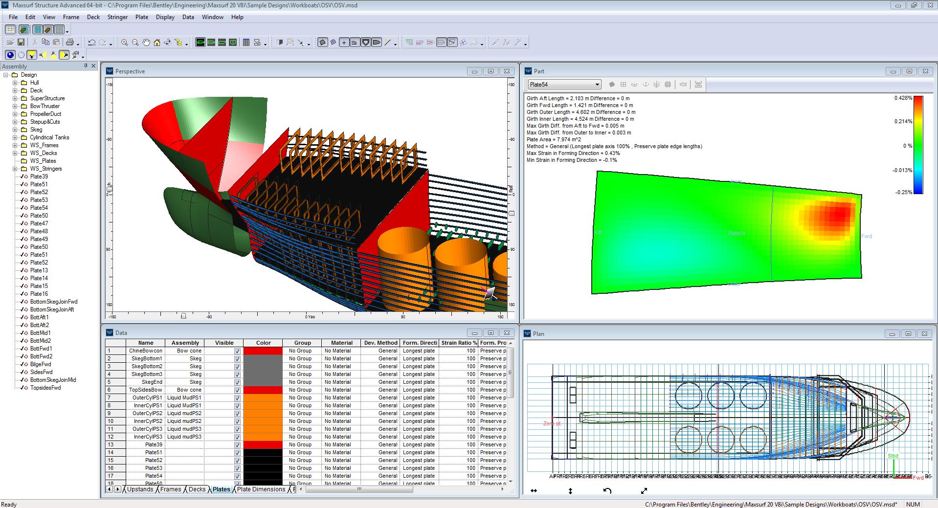 Maxsurf Structure Screenshot