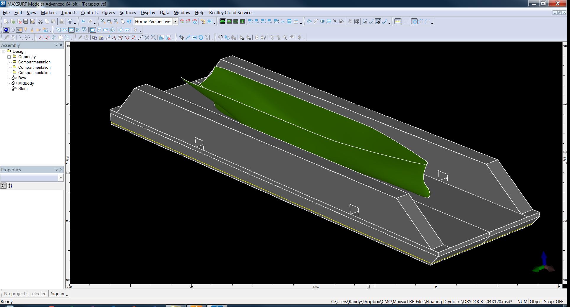 Use MAXSURF to Design Floating Drydocks