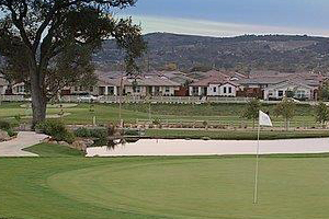 A scenic vista of a lush green golf course