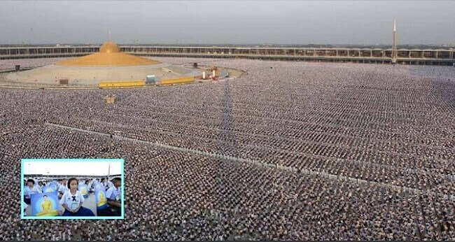 1 Million Children Get Together And Meditated For World Peace In Thailand