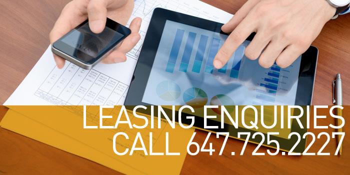 Leasing Enquiries Call 647.725.2227