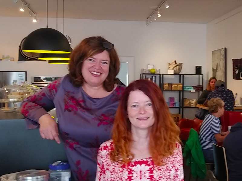 Alice and Ginger of The Village Coffeehouse in Canning, NS