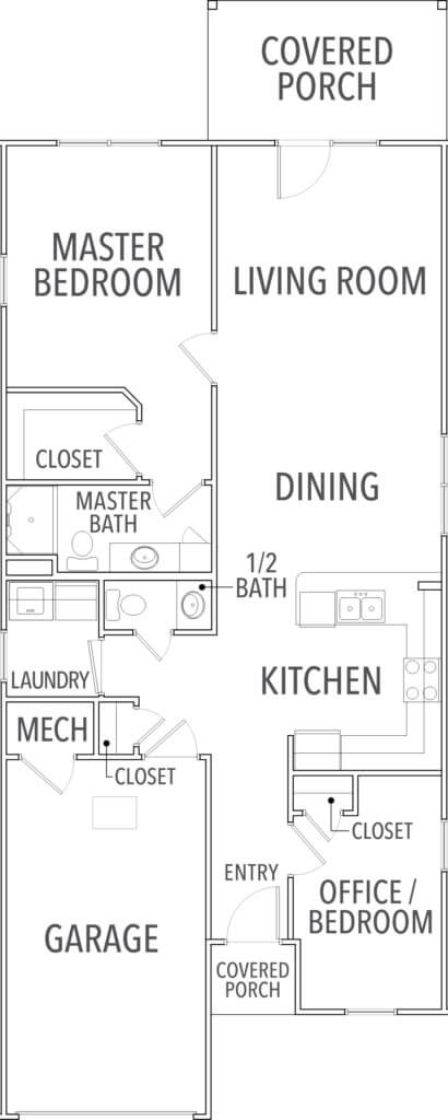 floor plan for the sage