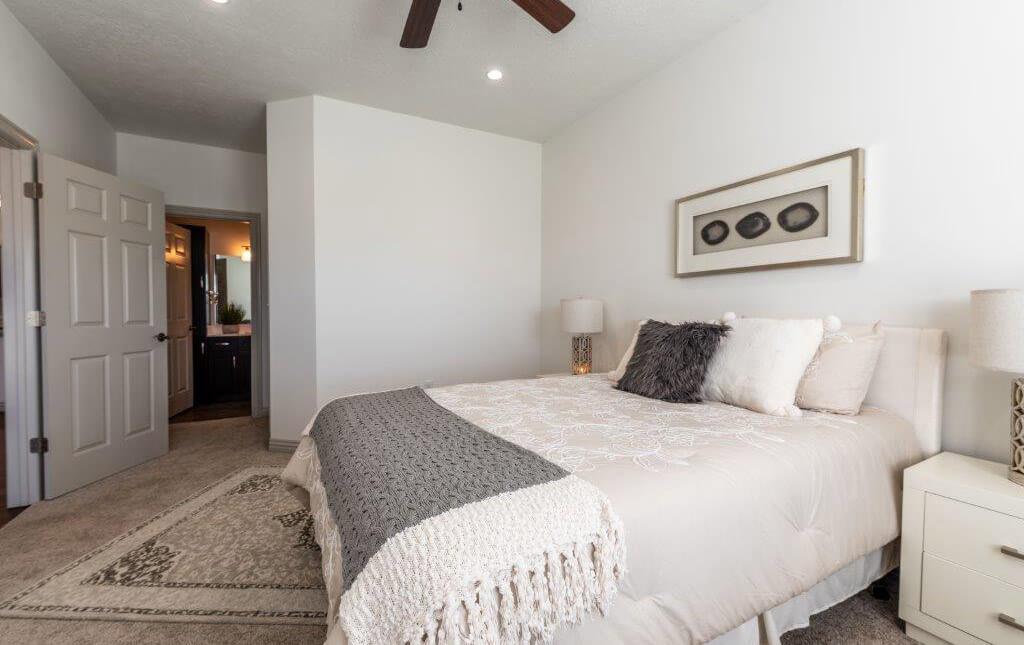 a comfy bedroom