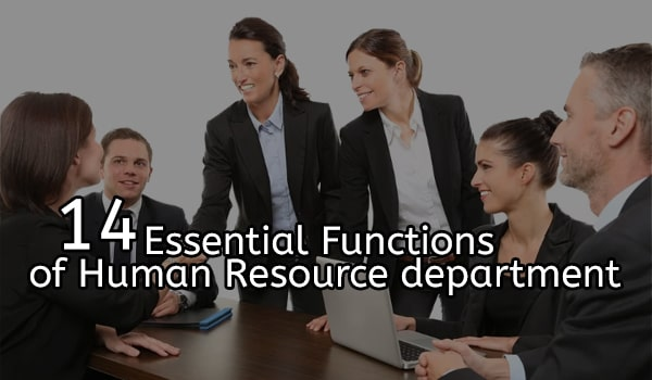 14 essential Functions of Human Resource department-min